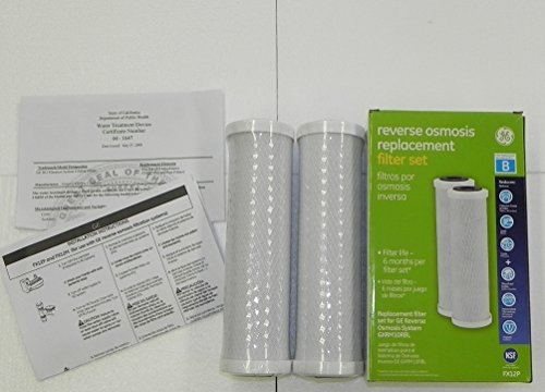 GE FX12P Reverse Osmosis Replacement Filter Set