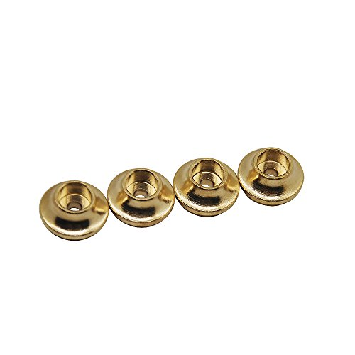 (RCLions 20G/Set Brass Spring Retainers Shock Cups for Traxxas TRX4 1/10th Scale Rock Crawler Car)