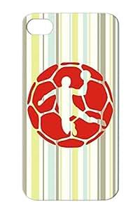 Handball Sports Miscellaneous Handball Red Protective Case For Iphone 4/4s
