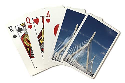 Zakim Bridge Boston, Massachusetts Photography A-91116 (Playing Card Deck - 52 Card Poker Size with Jokers)