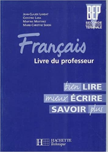 Amazon Fr Francais Seconde Professionnelle Et Terminale