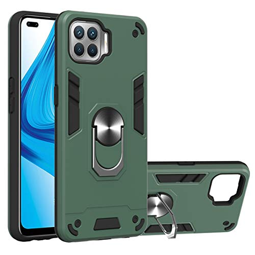 Oppo F17 Pro Case, Oppo A93/Reno4 Lite Case, Gift_Source Dual Layer Shockproof Case Hard PC and Soft TPU Silicone Cover…