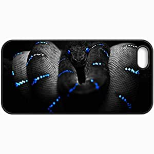 Customized Cellphone Case Back Cover For iPhone 5 5S, Protective Hardshell Case Personalized Snake Black
