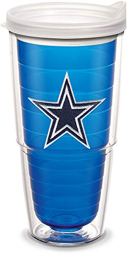 Stars Frosted Mug - Tervis 1058624 NFL Dallas Cowboys Primary Logo Tumbler with Emblem and Frosted Lid 24oz, Blue