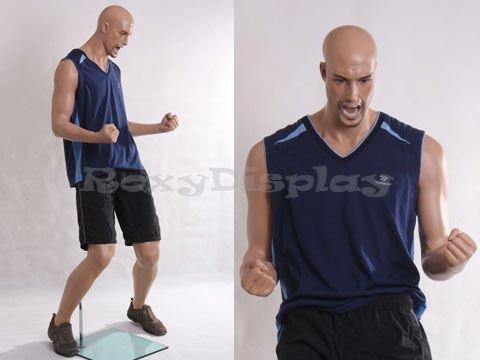 - (MZ-PW1) Realistic Male Sports Althletic Mannequin Fiberglass soccer/football goal style.