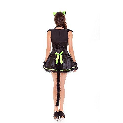 Moojm Cat Girl Disfraces De Halloween Mujeres Gato Salvaje De Cuero De La Mujer Gato Partido: Amazon.es: Deportes y aire libre