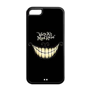 MEIMEI ipod touch 5 Phone Cases, Cheshire Cat Hard TPU Rubber Cover Case for ipod touch 5LINMM58281