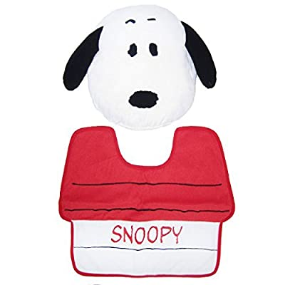 PEANUTS toilet cover and mat 2 Snoopy