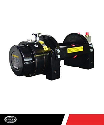 "Pierce Planetary Hydraulic Winches PSHV18000: 18,000 Lbs. Load Capacity, 15.9 GPM Flow, 2175 Max PSI, 16:1 Gear Ratio, 23 FPM, 10"" Drum Width, Drum Barrel 4"" - Drum Flange 9.9"", 375125"