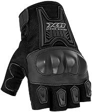 Luva X11 Blackout Verão Meio Dedo C/Proteção Borracha Preta M