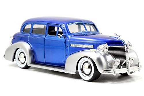 Chevy Deluxe Model - Jada Toys Garage Worx '39 Chevy Master Deluxe 1:24 Scale Model Kit, Blue