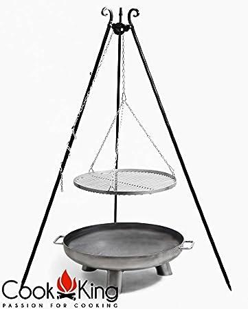 Barbecues, Grills & Smokers Schwenkgrill Cook King Schwarz Grill-rost Stahl Ø 70cm+feuerschale Bali 80cm