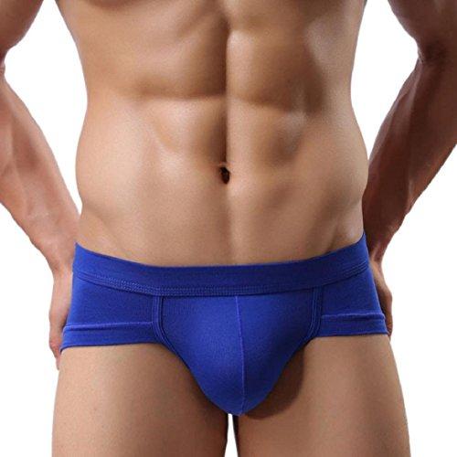 vêtements Gonflement Bleu Trunks Boxer Slip Sous Pouch Nouveau Souple Homme Culotte Courts Amison Sexy 6IHZqzwpAc