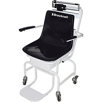 Brecknell CS-200M Chair Scale; 440lb Capacity, Perfect for Weighing Those Who Have Difficulty Standing on Their Own, Mechanical Wheelchair Scale