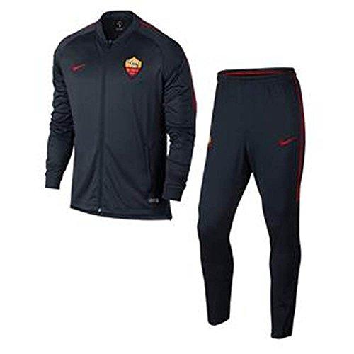 2017-2018 AS Roma Nike Dry Squad Tracksuit (Dark Obsidian) Navy