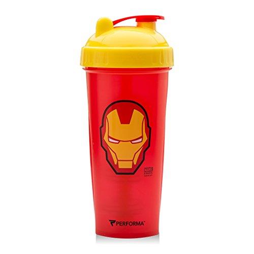 Performa Perfect Shaker - Marvel Original Series, Mas antifiltraciones Proteínas agitador Botella con tecnología actionrod...