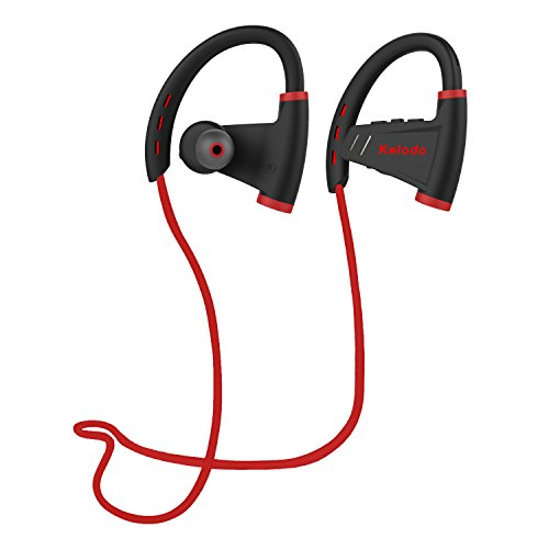 Kelodo S9 Bluetooth Headphones Wireless in Ear Earbuds w/Mic Sports Sweatproof Earphones HD Stereo with Bass Workout 12 Hour Headset for Running, Workout and Gym ()