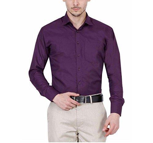 9e3ebffefef PSK Men's Regular Fit Purple Color Formal Shirt.: Amazon.in ...