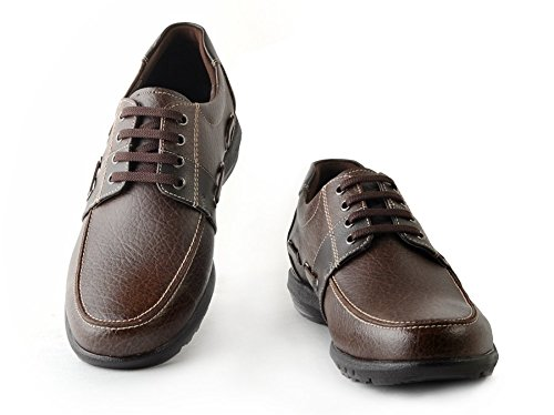 Men's Oxford Brown/Black Dress Shoes WS.1706 + Casual Comfort Shoes WS.1705 Set