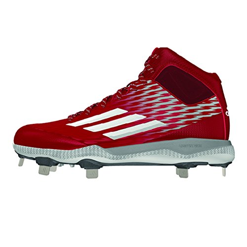 buy cheap amazon Adidas Performance Men's PowerAlley 3 Mid Baseball Shoe Power Red-white-tech Grey classic online exclusive sale online outlet best place NcM9AR9Y