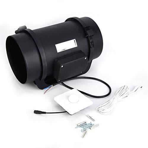 8インチECモーター換気排気ファンダクトファンPWM調整可能速度コントローラー760 CFM HI-200ECパイプラインファン隠しガバナー(220V)
