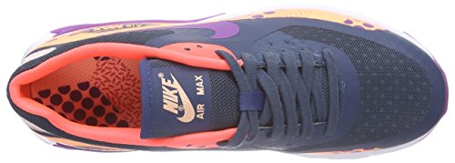 Nike W Air Max 90 Ultra Br Print - Zapatilla de estar por casa Mujer Azul - Blau (400 SQDRN BL/VVD PRPL-SNST GLW-HT)