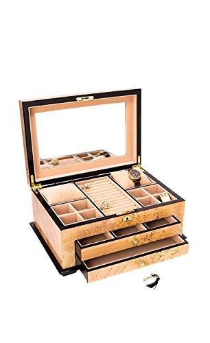 Birdseye Maple Jewelry Box - 3 Level Jewelry Box