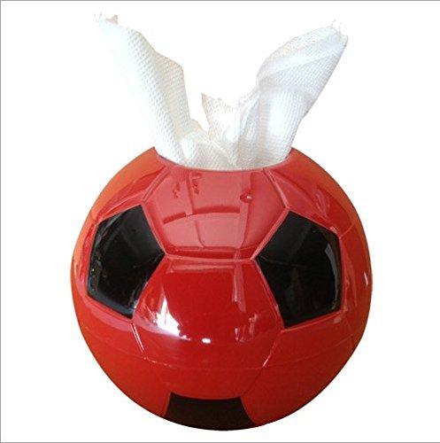 pingofm Creative color fútbol forma toalla de papel de dibujo papel toallas y papel higiénico caja volumen bandeja papel higiénico titulares: Amazon.es: ...