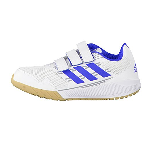 adidas Ba9419, Zapatillas de Running Unisex Niños blanc/bleu/gris