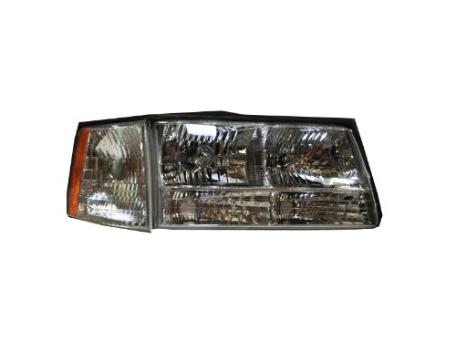 HEADLIGHTSDEPOT Compatible with Headlight And Corner Light OE Style Replacement Headlamp Right Passenger Side (Cadillac Deville Side Marker Corner)