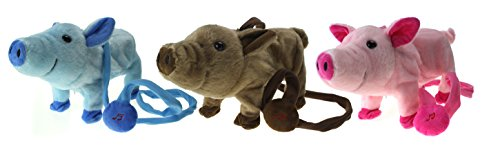My Dancing Pig Walk Along Toy Stuffed Plush Pig, Realistic Dancing & Walking Actions with Music (Colors May Vary) (Walking Pig)