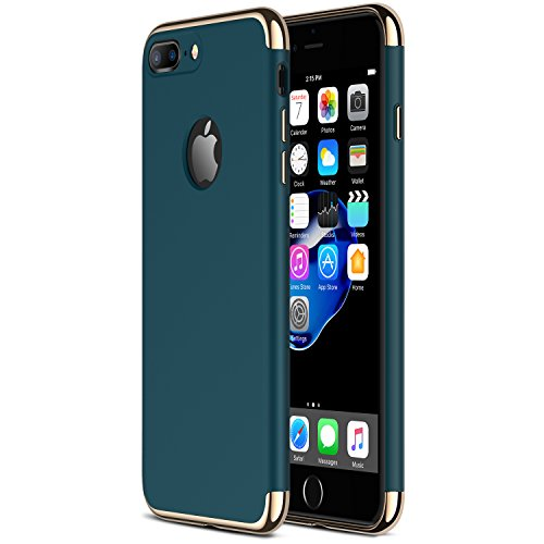 iPhone 7 Plus Case RANVOO Stylish Thin Hard Slim Fit Case with 3 Detachable Parts for Apple iPhone 7 Plus Only, DARK GREEN (Colorway Released in July 2017), [CLIP-ON]