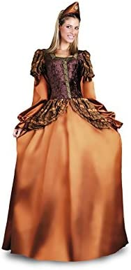 Disfrazzes - Disfraz de princesa medieval dorada para mujer m-l ...