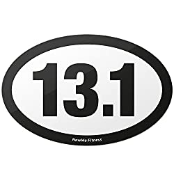 13.1 Half Marathon Oval Car Magnet for Distance Runners, Trail Running | Stick it to Your Vehicle or its Bumper | Fitness & Runner Enthusiast | Strongest Magnet on Amazon