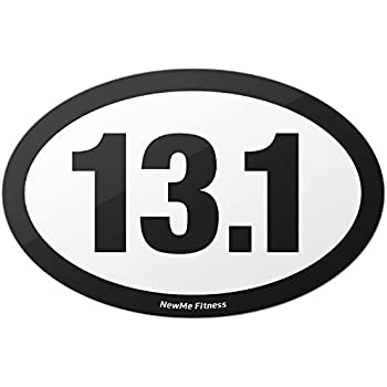 13 1 half marathon oval car magnet for distance runners trail running stick it