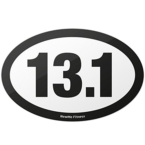 Bike Route Sign Charm (13.1 Half Marathon Oval Car Magnet - for Distance Runners, Trail Running | Stick it to Your Vehicle or its Bumper | Fitness & Runner Enthusiast | Strongest Magnet on Amazon)