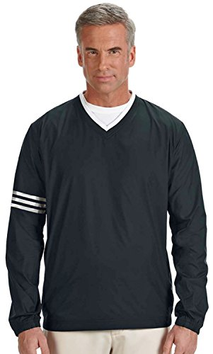adidas Men's ClimaLite Color Block V-Neck Wind Shirt