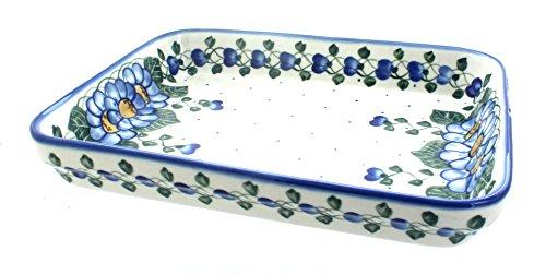 (Blue Rose Polish Pottery Primrose Large Rectangular)