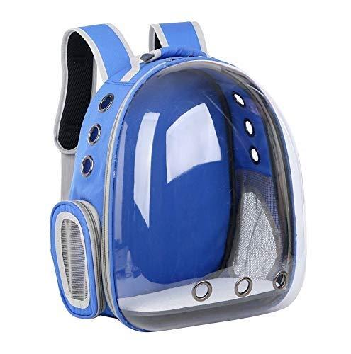 bluee PETIN-Pet backpack Pet Carrier Portable Pet Backpack Cat Dog Travel Backpack Pet Cat Carrier Dog Carrier (color   bluee)