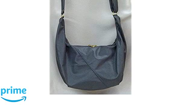 fdbf5306e295 Amazon.com: Wallet Purse Hobo Sling Bag - Grey Leather from Grizzly ...