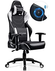 GTPLAYER Music Gaming Chair with Bluetooth Speakers【Patented】 Audio Racing Office Chair Heavy Duty 400lbs Ergonomic Multi-Function E-Sports Chair for Pro Gamer