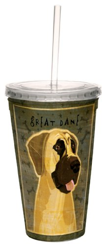 - Tree-Free Greetings cc34029 Great Dane-No Crop by John W. Golden Artful Traveler Double-Walled Cool Cup with Reusable Straw, 16-Ounce