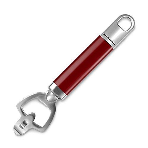 KitchenAid Bottle Opener-Empire Red Finish, Stainless Steel, 32 x 9.5 x 1.8 cm