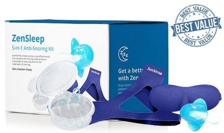 Zensleep 5 In 1 Anti  Snoring Kit  Get The All  In One System  With Everything You Need To Stop Snoring  Stop Snoring Today  Free Yourself From Heavy Snoring
