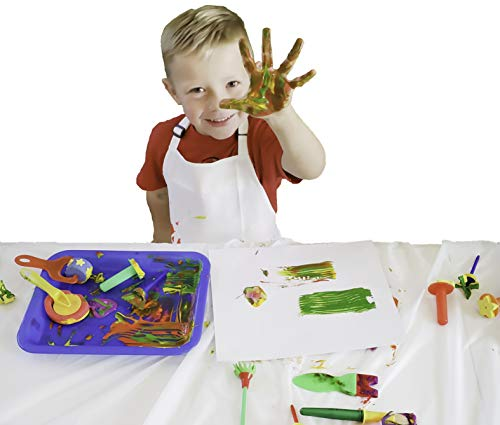 Arteezt Kids Finger Painting Kit, Drawing, Arts and Crafts Set - Finger Paint Paper, Art Apron, Paint Tray, Table Cloths - Fun and Durable Arts and Crafts Supplies - Home and Classroom Early Learning ()