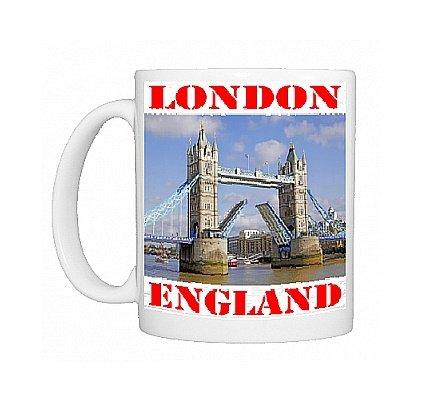 Taza del puente de la torre elevador abrir y, de Londres ...