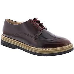 Clarks Zante Zara - Burgundy Leather Womens Shoes 9.5 US