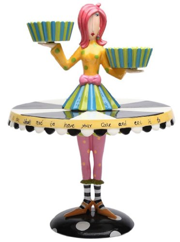 Appletree Design Set of 2 Cupcake Holder and Cake Stand, 15-Inch