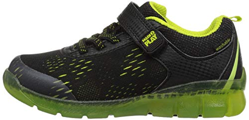 Pictures of Stride Rite Boys' Made 2 Play Lighted BB60272 Black/Neon 6