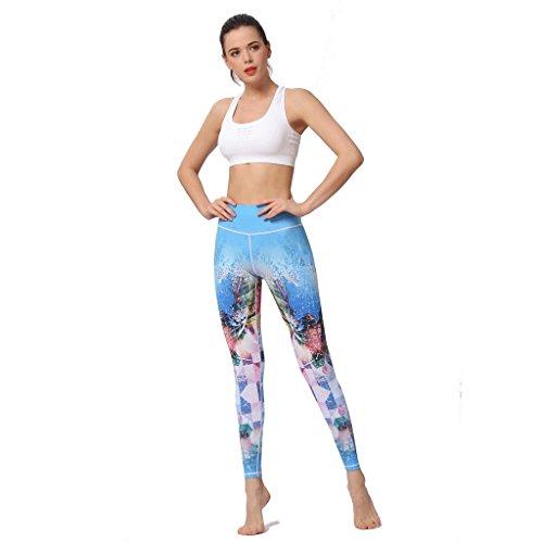 Dimensioni Per Pantaloni colore Aderenti Abbigliamento Da B Libero Yoga Il Allenamento B Tempo Sportivi Stampati S HwOHxqP